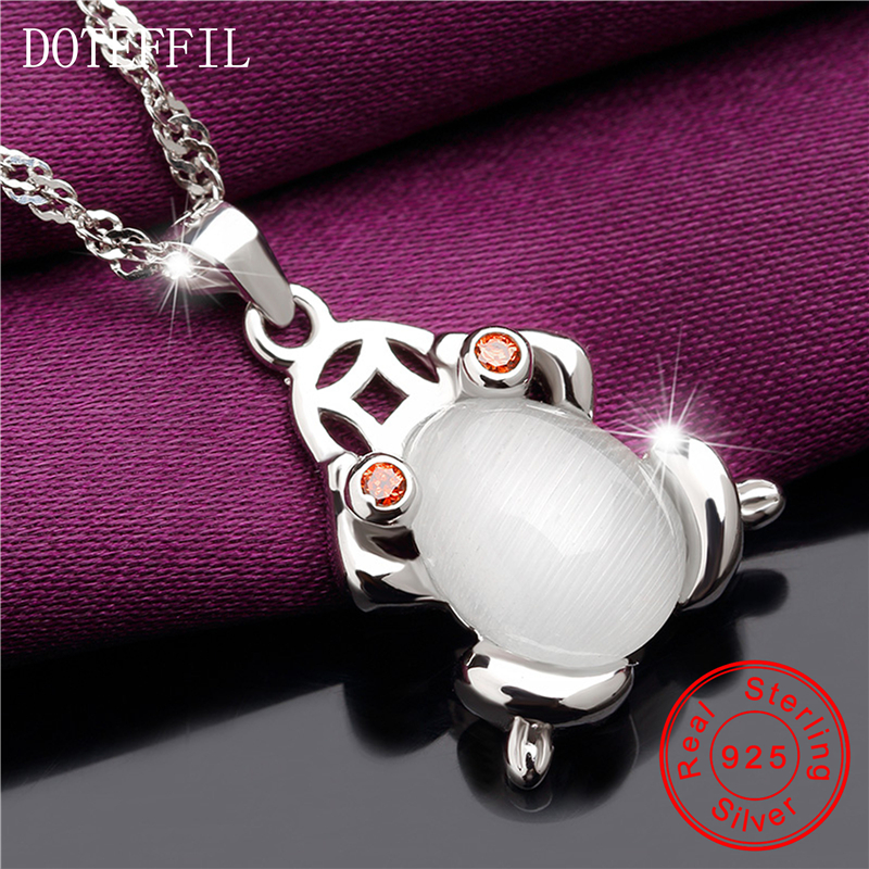 Women 925 Sterling Silver Charm AAAA Zircon Necklace 100% Silver Frogs Pendant Necklace Luxury Jewelry