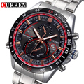Completa de acero Inoxidable Reloj de Cuarzo de lujo Hombre Reloj Relojes hombre Militar Deportes Reloj de Pulsera Analógico regalo Nuevo Curren