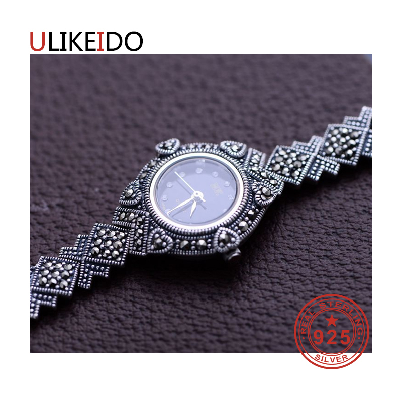 100% Pure 925 Sterling Silver Watch Men Fashion Hand Chain For Women Thai Silver Jewelry Charm Bracelet Homme 1515 925 sterling silver mens bracelets fashion domineering classic hand chain for men and women special jewelry charm bracelet 267
