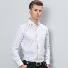 Модные Для мужчин рубашка брендовая одежда с длинным рукавом Человек Рубашка Бизнес Рубашки домашние муж. Хлопковое платье Рубашки для мальчиков Человек Костюмы Топы корректирующие
