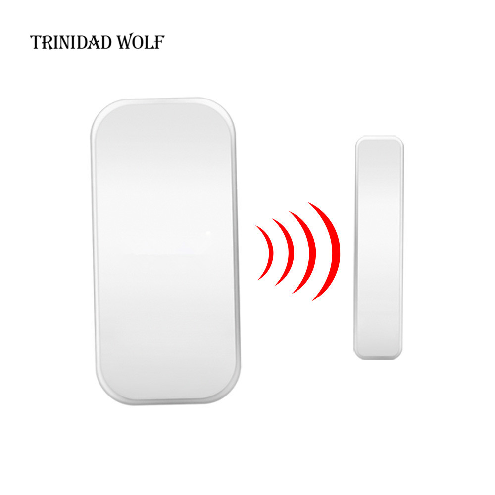 TRINIDAD WOLF 1pcs Magnetic Sensor Wireless Home Window Door Entry Anti Thief Security Alarm System Door Detector Sensor 1pc wireless door window burglar alarm with magnetic sensor door entry anti thief home alarm system security device wholesale