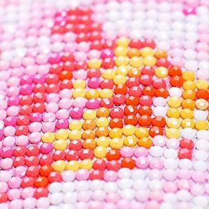 Image 2 - Heißer 5D Diy Die Maske Platz Diamant Malerei Runde Bohrer Strass Dekorative Wand Aufkleber Wohnkultur Handwerk 30*30cm