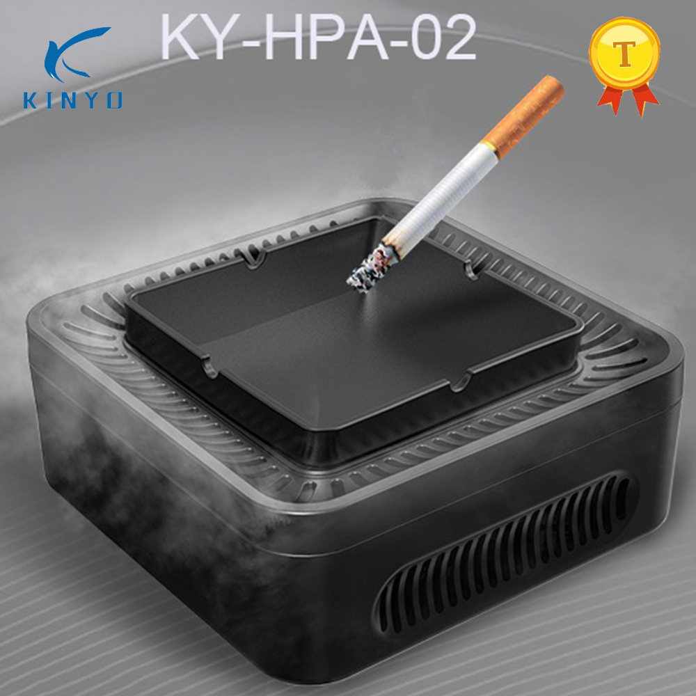 Original KY-HPA-02 Mini Air Purifier USB Charging Air Purifier Ashtray Office Air Freshener For Office Home HEPA Filter Smokers 12v hepa filter multifunctional air purifier aroma with air freshener