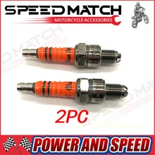 2x Spark Plug A7TC A7TJC 3 Electrode For GY6 50cc-125cc Moped Scooter ATV