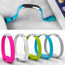 Wearable USB2.0 Charging Bracelet Cable Portable USB Phone Charger for iPhone 6S 7 8 X Type C Micro Android Phones