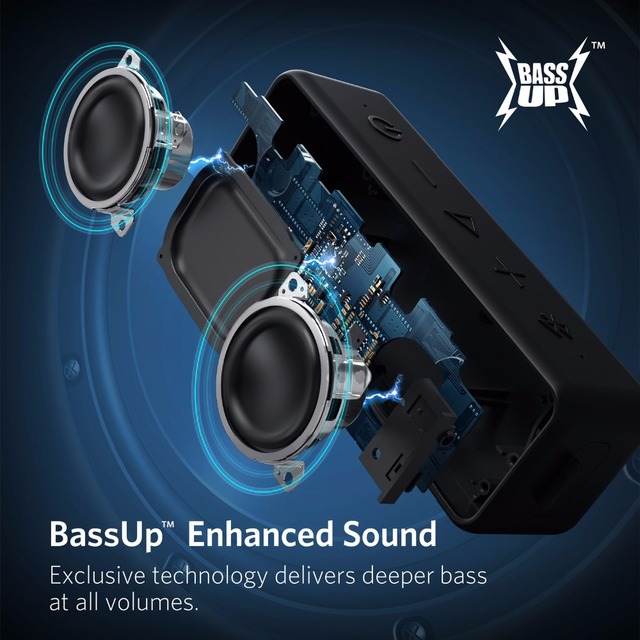 Anker Soundcore 2 Portable Bluetooth Wireless Speaker Better Bass 24 Hour Playtime 66ft Bluetooth Range Ipx7 Water Resistance Mobile E Store