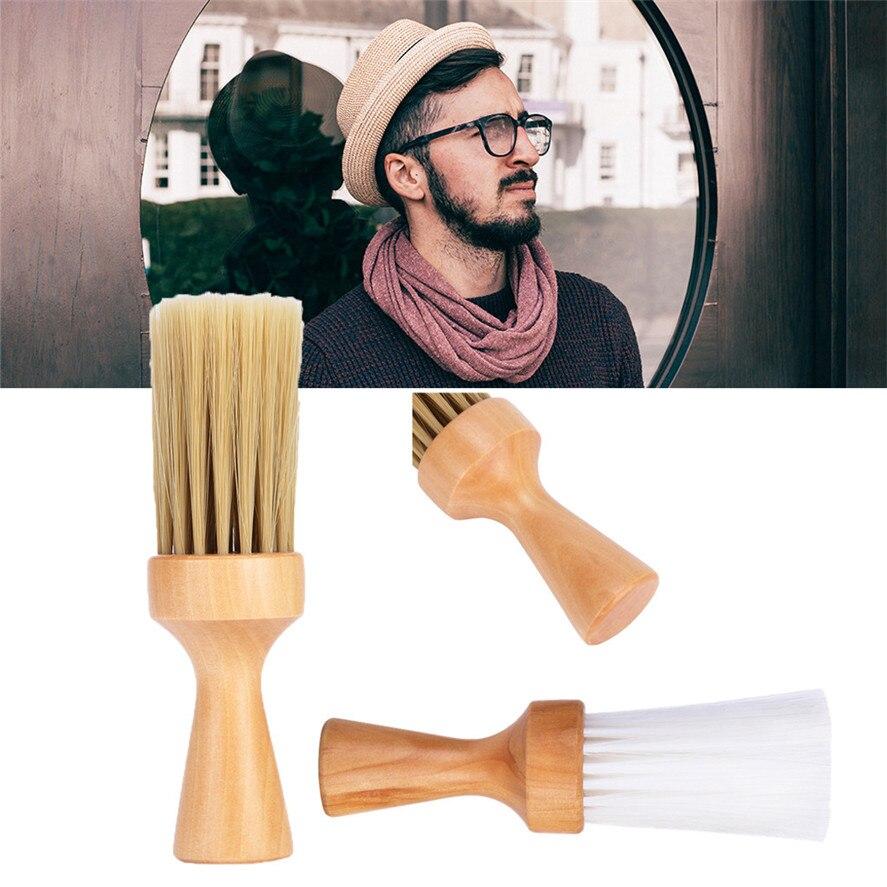 New  Shaving Brush 1PC Wooden Shaving Brush Nylon Hair Shave Wood Handle Razor Barber Brushes Tool 0312#30