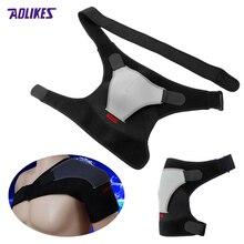 Sport Unisex Man Women Injury Arthritis Pain Shoulder Brace Dislocation Neoprene Support Strap Tourmaline Shoulder Black z16401