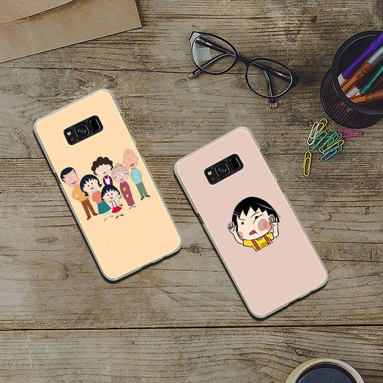 Lavaza Japonya Kız Kiraz chibi maruko chan Sert Şeffaf Telefon samsung kılıfı Galaxy S10 E S10E S8 S9 Artı S6 S7 kenar Kapak
