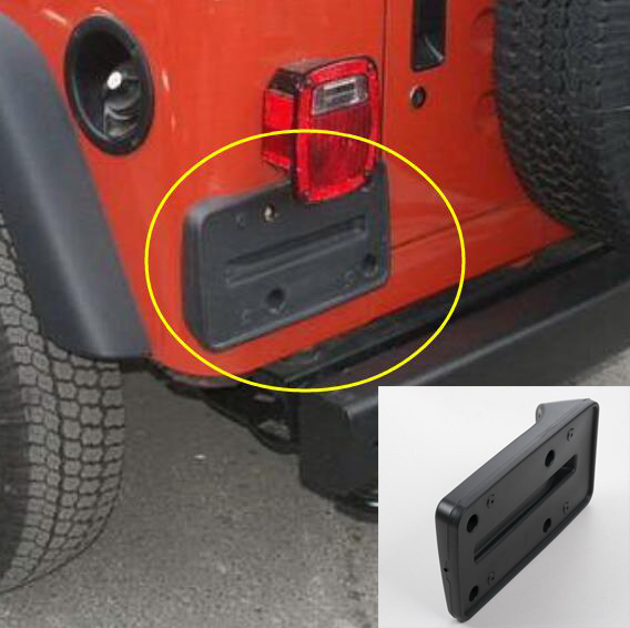 Tail Rear License Plate Frame Number Holder Mounting Bracket ABS For Jeep  Wrangler TJ 2nd Generation