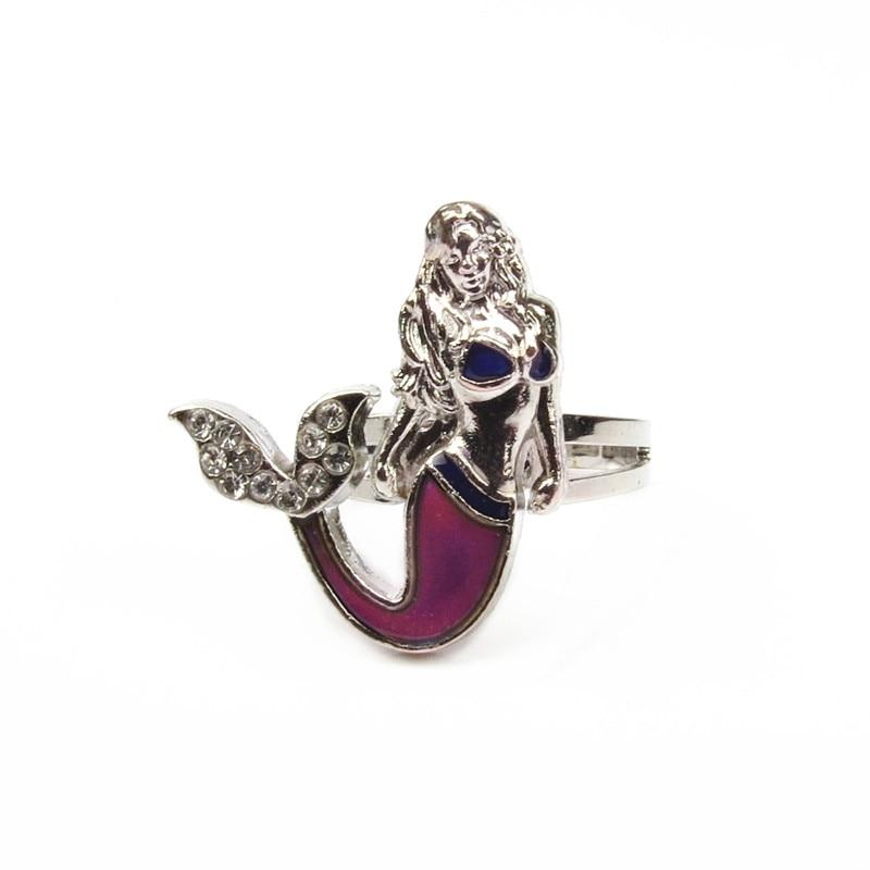 mermaid ring 100pcs lot wholesale mood rings