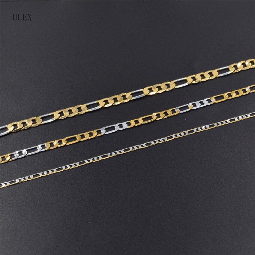 Улекс Высокая мода золото 316L нержавеющей стали 3:1 звено цепи ожерелье ювелирных изделий 24 К вакуум покрытие высокого качества Бесплатная до...