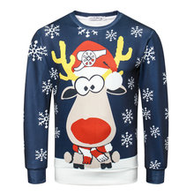 2019 3D Jumper Snowman Deer NEW Santa Claus Xmas Patterned Sweater Ugly Christmas Sweaters Tops For Men Women Pullovers Blusas