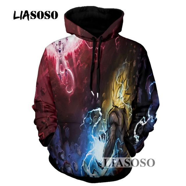 LIASOSO Design Dragon Ball Z Hoodies 3D Hoody Pullovers Sweatshirt ...