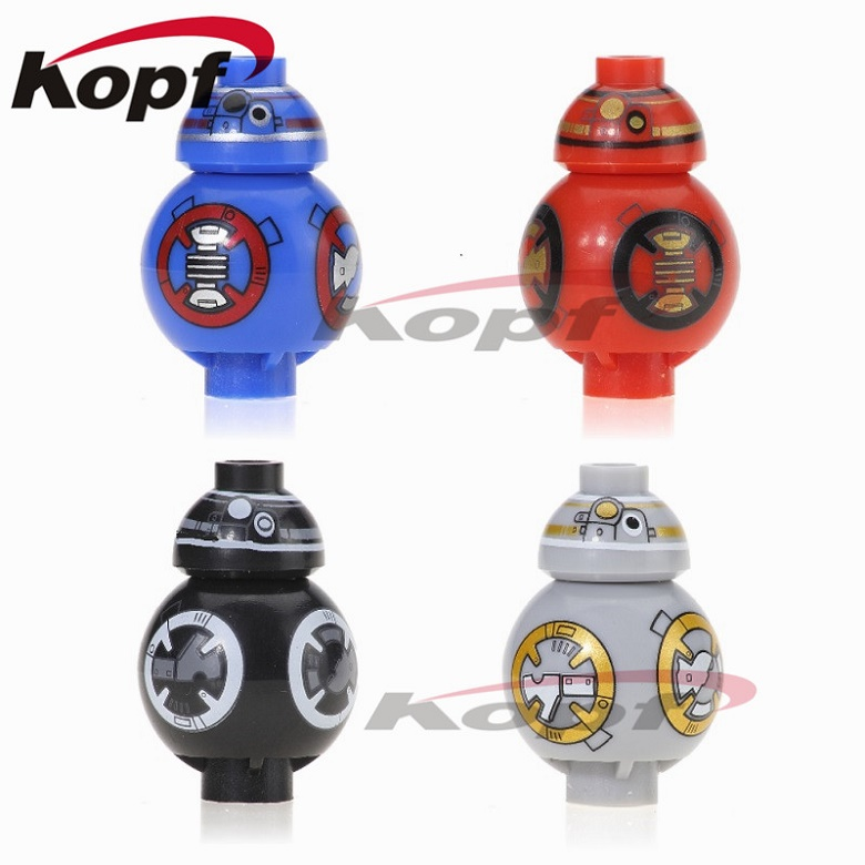 Mini BB8 BB-8 With Black Red Gray Blue Colour Christmas R2D2 With Tray R3D5 Space Wars Building Blocks Children Gift Toys D1000