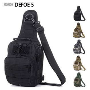 Molle Tactical Outdoor Camouflage Chest Pack Sport Single Shoulder Man Crossbody Army Surplus Gear Equipment Hot Bag * - DEFOE 5 Outdoors store