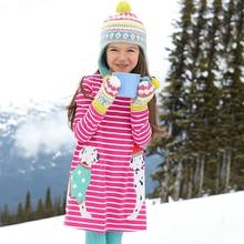 ФОТО  autumn kids dresses for girls fashion kids dress cotton girls dress long sleeve dresses animal stripe children girl clothing
