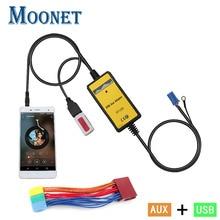 Moonet адаптер CD проигрыватели MP3 3.5 мм вспомогательный TF SD USB мобильного телефона плеер для 8Pin 2000-05 A2 1998-06 A4/S4 1998-2004 KB004