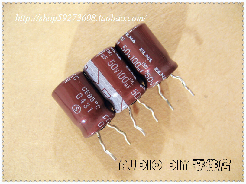 30PCS ELNA RA2 Series 100uF/50V Electrolytic Capacitor for Audio (Package in Thailand) free shipping