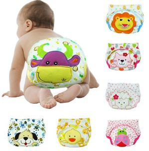 Baby Boy Cotton Leakproof Diapers Boy Infant Toilet Pee Potty Training Diaper Nappy Urine Pants 5pcs/lot Mix Free Shipping