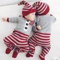 Christmas Newborn Clothes Twin Baby Clothing Full Sleeve O-Neck Animal Newborn Bodysuit Recem Nascido