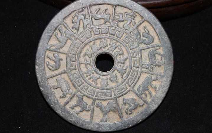 Yanสำริดโบราณจีนสิบสองราศีสัตว์T Aiji Baguaทองแดงเหรียญจี้