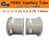 PEEK Pipe Capillary Tube 1 16 1 6mm Grade 450G 100 Pure Polyetheretherketone Tubular Thermoplastic Materials
