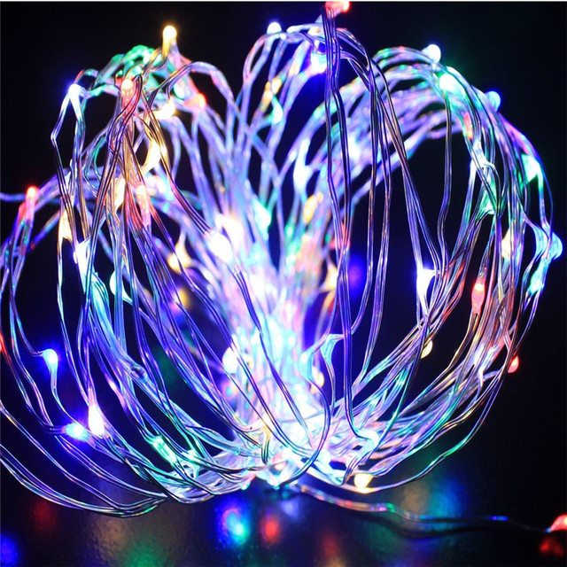 4m 40led battery powed mini led copper wire string fairy lights christmas party wedding flash sparkle