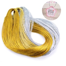 100 meters/lot Gift Packaging Gold Silver Fragrant Piece Card Multi-functional Practical Durable Thread 1mm