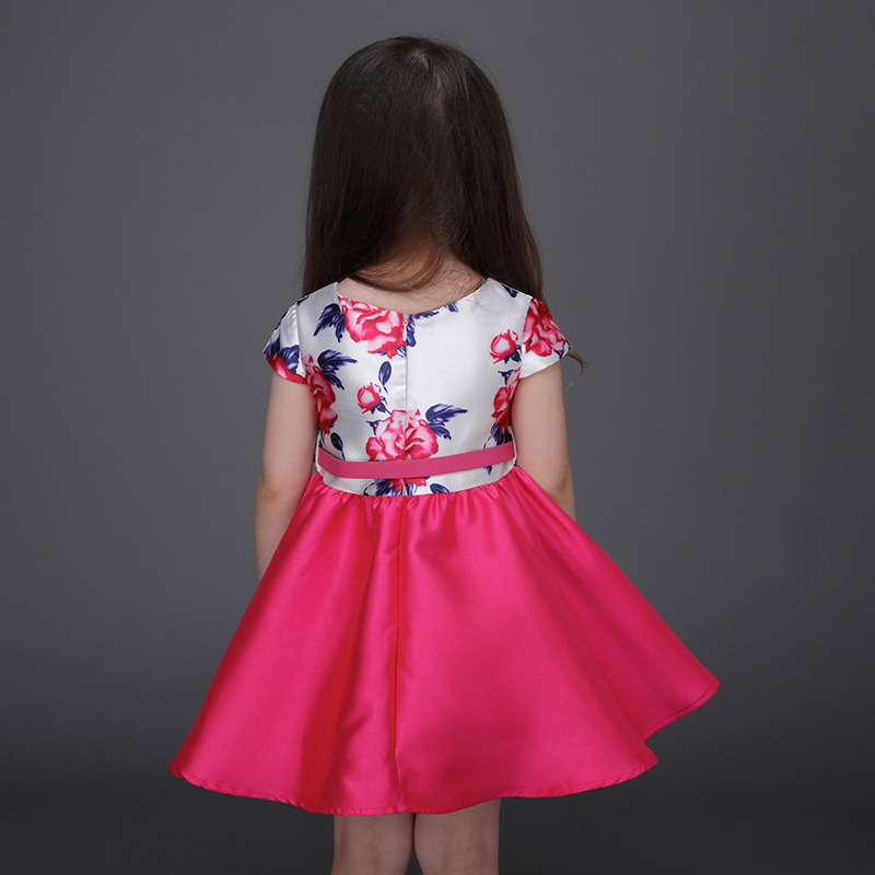 7c305ca6a Top Quality Sale Baby Girl Dress Summer Style Dresses Casual Sleeveless  Blue Flowers Embroidery Children Brand Kids Clothes-in Dresses from Mother  & Kids on ...