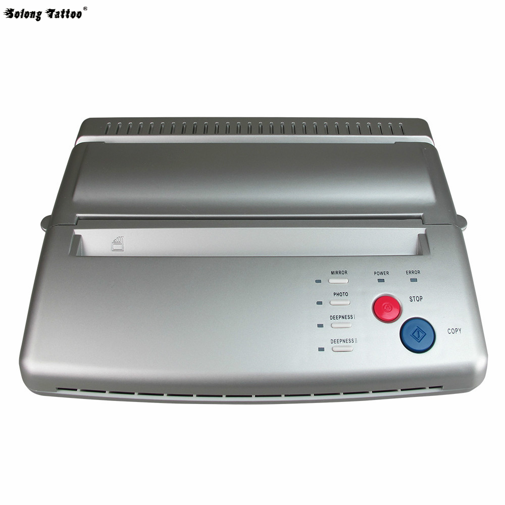 Solong Tattoo Top Quality Tattoo Stencil Transfer Machine Thermal Copier Maker For Transfer Papers 20 Pcs Transfer Paper T101 solong tattoo top quality tattoo stencil transfer machine thermal copier maker for transfer papers 20 pcs transfer paper t102