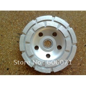 "double row cup wheel/segment diamond cup wheel/concrete grinding wheel/diamond cutting disk/abrasive disc(5""/125 mm diameter)"
