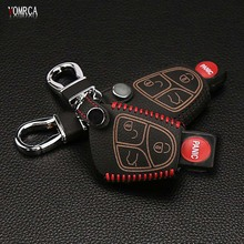 Latest design 100% leather car key case suitable for Mercedes - Benz BCE ML S CLK CL 3B 3BT AMG 3 button bag styling