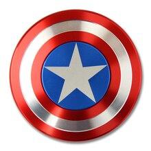 The Avengers Iron Man Fidget Toy Hand Spinner Metal Finger Spinner Captain America Shield With Box