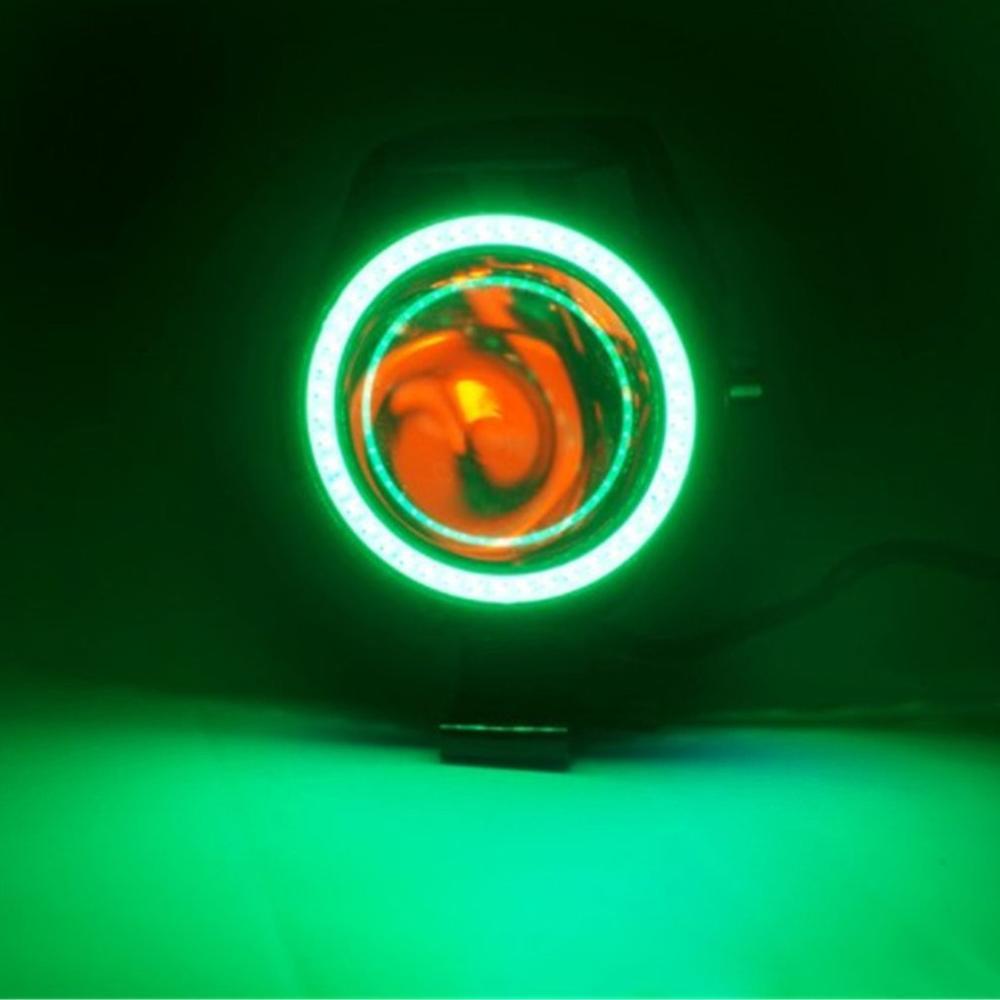 Image 3 - 2PCS 125W 12V Motorcycle Headlight 3000LM moto spotlight U7 LED Driving Fog Spot Head Light Decorative Lamp