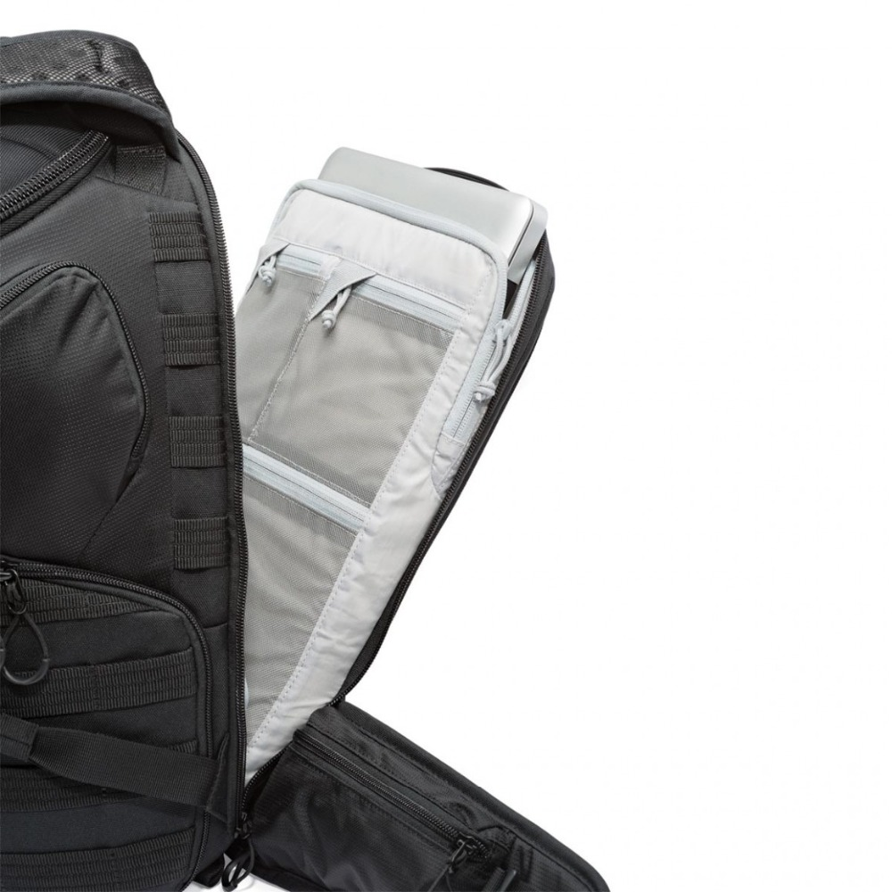 Genuino Lowepro ProTactic 450 aw hombro Cámara bolsa SLR Cámara bolsa Laptop mochila con todas las cubiertas meteorológicas 15,6 pulgadas portátil - 4