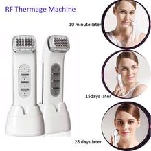 2PCS Lot DHL Free Shipping Portable Rechargeable RF Dot Matrix Themage Face Lift Facial Beauty Massager