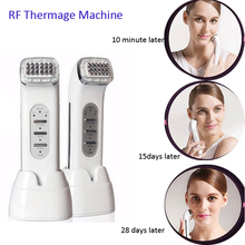 2PCS/Lot DHL Free Shipping Portable Rechargeable RF Dot Matrix Themage Face Lift Facial Beauty Massager