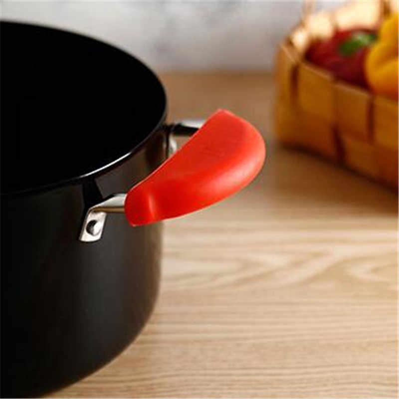 3 шт./компл. силиконовые противоскользящие кастрюлю и горшок ручка Теплоизоляция набор силиконовых ручек Кухня инструменты
