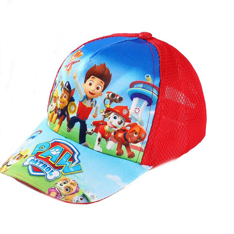 New Product  2019 Paw Patrol Dog Baby Hat Summer Baseball Cap Headdress Breathable Cool 2-10 Year Old Action Fig