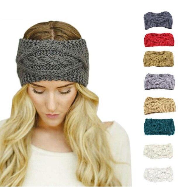 pas cher à vendre le plus en vogue mieux € 2.05 16% de réduction|Femmes tricot laine motif Floral mode Style  entendre bande nouveau 2018 Turbantes solide Accessoire Cheveux Fille  Cheveux ...