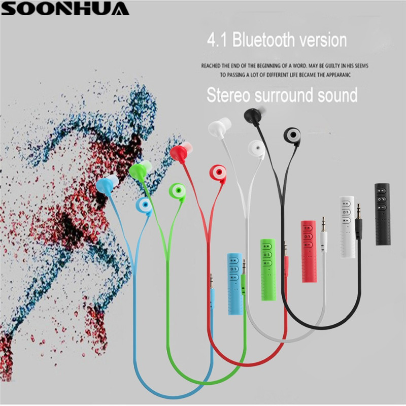 Wireless In-Ear Sports Bluetooth Stereo Headphone 3.5mm Headset And Universal Bluetooth Receiver Mic Earphone For iPhone/Xiaomi