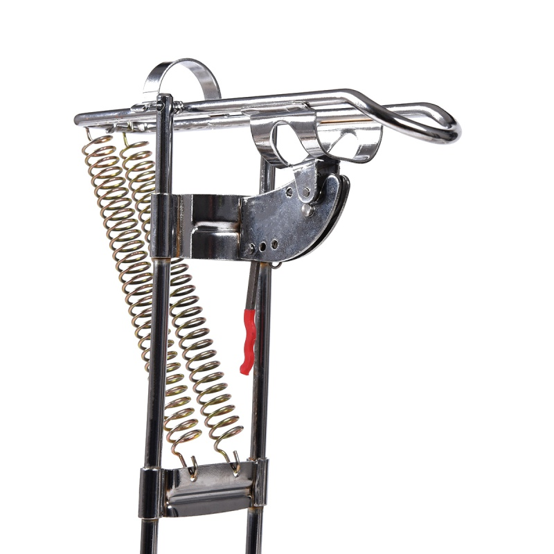 Outdoor Automatic Double Angle Spring Fish Pole Fishing Stainless Steel Tackle Stand Support Steel Antioxidant Fishing Tool