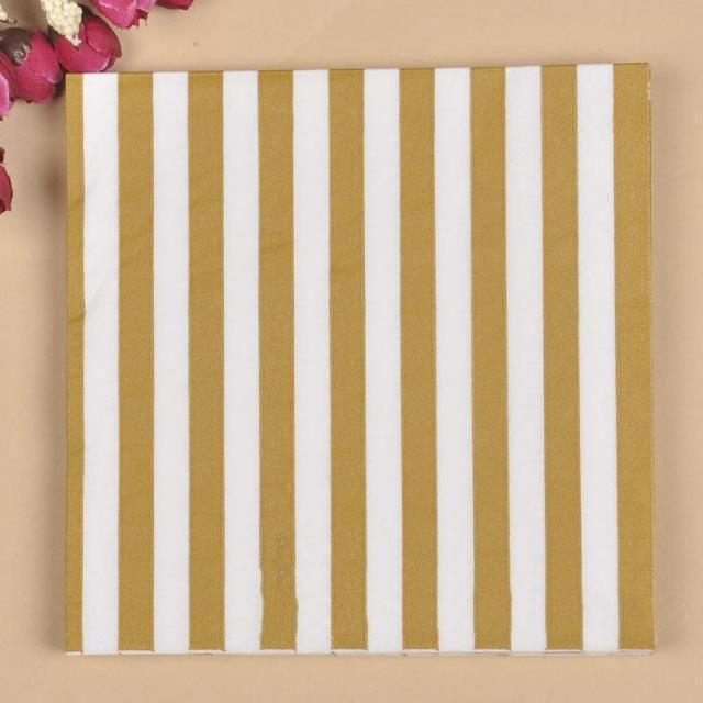 20Pcs/Lot Colorful Stripe Wave Paper Napkin For Wedding Supplies Party Decoration Kids B ...