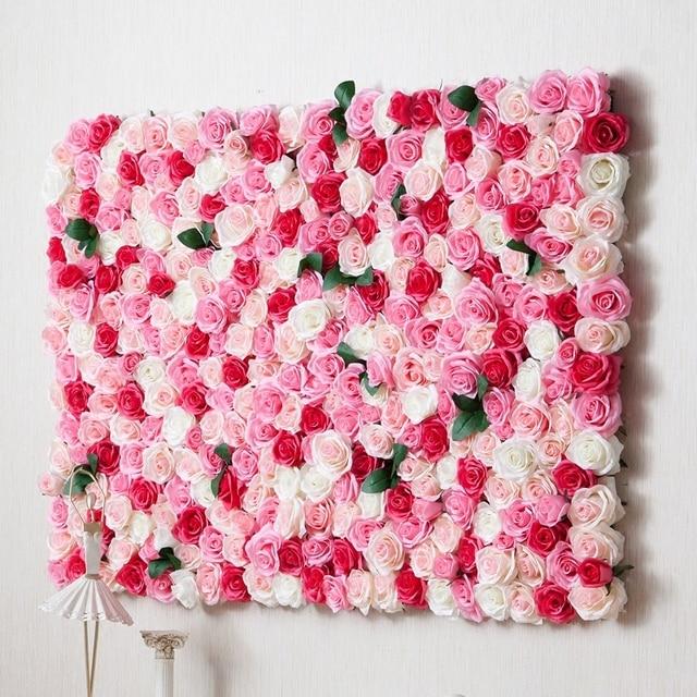 80cm X 120cm Artificial Silk Rose For Wedding Background Flower Wall