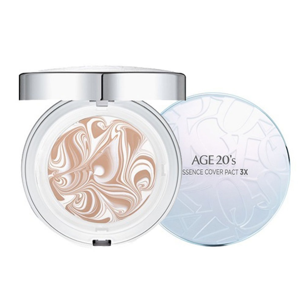 Age 20 s Essence Cover Pact Pink White Case 2 Refill 2 Puffs