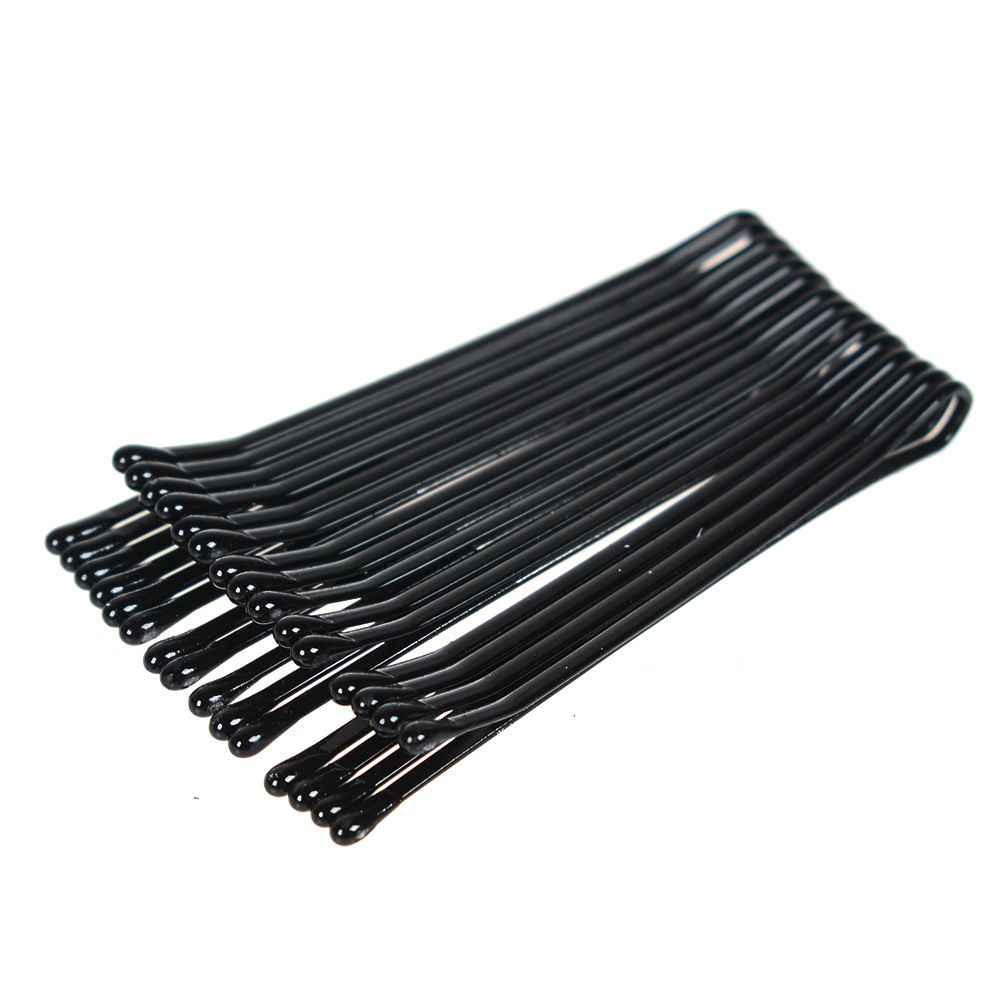 60 teile/satz Pro Haar Clips 4 cm Schwarz Pins Lockige Wellenförmige Griffe Frisur Haarnadel Haar Friseur Styling DIY Tools Hairgrip haarspange