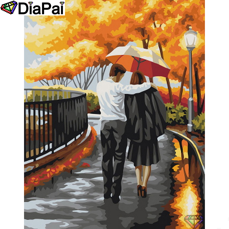 "DIAPAI 5D DIY Diamond Painting 100% Full Square/Round Drill ""Couple characters"" Diamond Embroidery Cross Stitch 3D Decor A22810(China)"