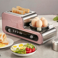 Breakfast Machine Grilled Toaster Driver Boiled Egg Omelet Stainless Steel