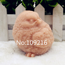 New Product!!1pcs 3D Bird with  Eyes Left (zx202) Food Grade Silicone Handmade Soap Mold Crafts DIY Mould